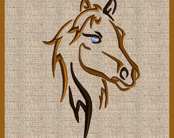 Horse Embroidery Design Set of 3 Horse Head Embroidery Design Horse Ouline Horse Head Silhouette