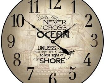 Courage Nautical Wall Clock