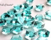 Minecraft Cake Decorations, Minecraft Diamonds, Wedding Cake Decorations, Cupcake Toppers, Crystals, Aqua Blue, 125 Edible DIAMONDS, Gifts