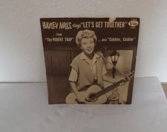 Haley Mills 45 RPM Lets Get Together Record