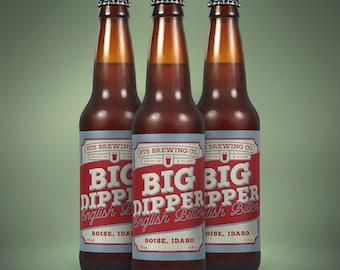printable beer label 22oz or 12oz custom homebrew bottle