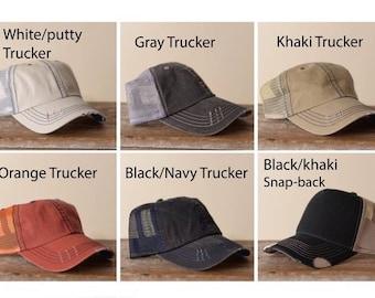 Womens Trucker hats, Womens baseball caps, Blank Trucker, womens Cadet Hats, Blank Distressed Style Hats, No flowers, wholesale hats