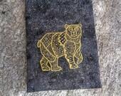 Embroidered Spirit Bear Totem Magic Purpose Bag