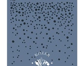 """Falling Snow 5.5"""" x 5.5"""" Stencil"""