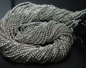 13 Inches Strand,Super Finest AAA Quality Silver Pyrite Faceted Rondelles 2.4mm
