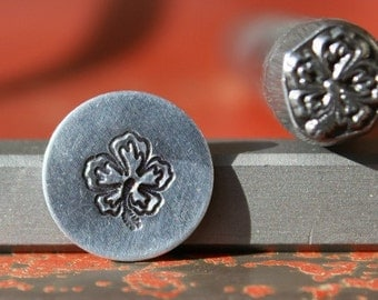 EXCLUSIVE Hawaiian Hibiscus Flower Steel Stamp Perfect for Metal Stamping and Jewelry Design  SGK-18