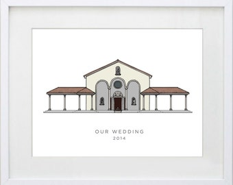 Custom Wedding Venue Drawing