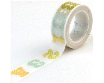 ABC 123 Washi Tape - Carta Bella - 15 ft - Planner Washi Tape Scrapbooking Embellishment - 535975