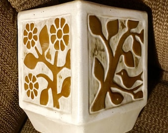 "David Stewart lion's Valley Stoneware mid century modern stoneware planter 7.5"" x 5.5"" x 5.5"".  Mint-ish condition !"
