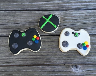 Game Controller Themed Sugar Cookies