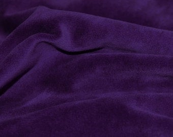 Purple Soft Cotton CVC Velour Cotton Polyester Fabric by Yard- Style 9001