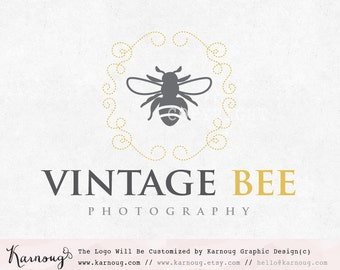 Bee Logo, Photography Logo, Boutique Logo, Custom Logo, Premade Logo, Custom Watermark, Custom Branding, Small Business, Logo Design