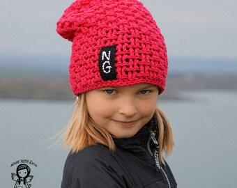 Crochet PATTERN, Crochet hat pattern, Crochet Beanie Hat, Crochet Hat, Pattern, all SIZES, DIY Pattern 186, Instant Download