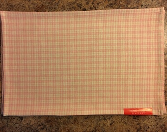 Pink Placemats..Gingham..FREE MONOGRAM..Set of 4..Madras Check Placemats..Cotton Place Mats..Gift