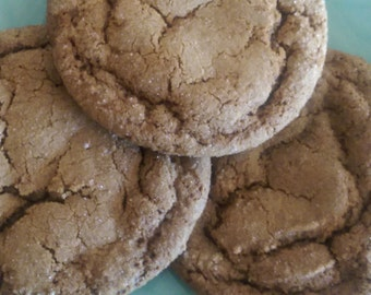 Vegan Soft Baked Ginger Cookies