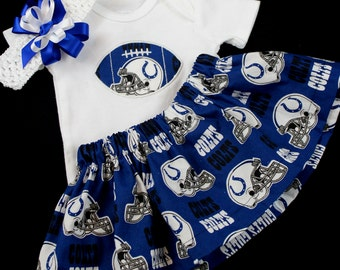 Indianapolis Colts 3pc Girls Bodysuit set