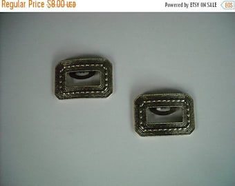sale vintage goldtone brass shoe clips