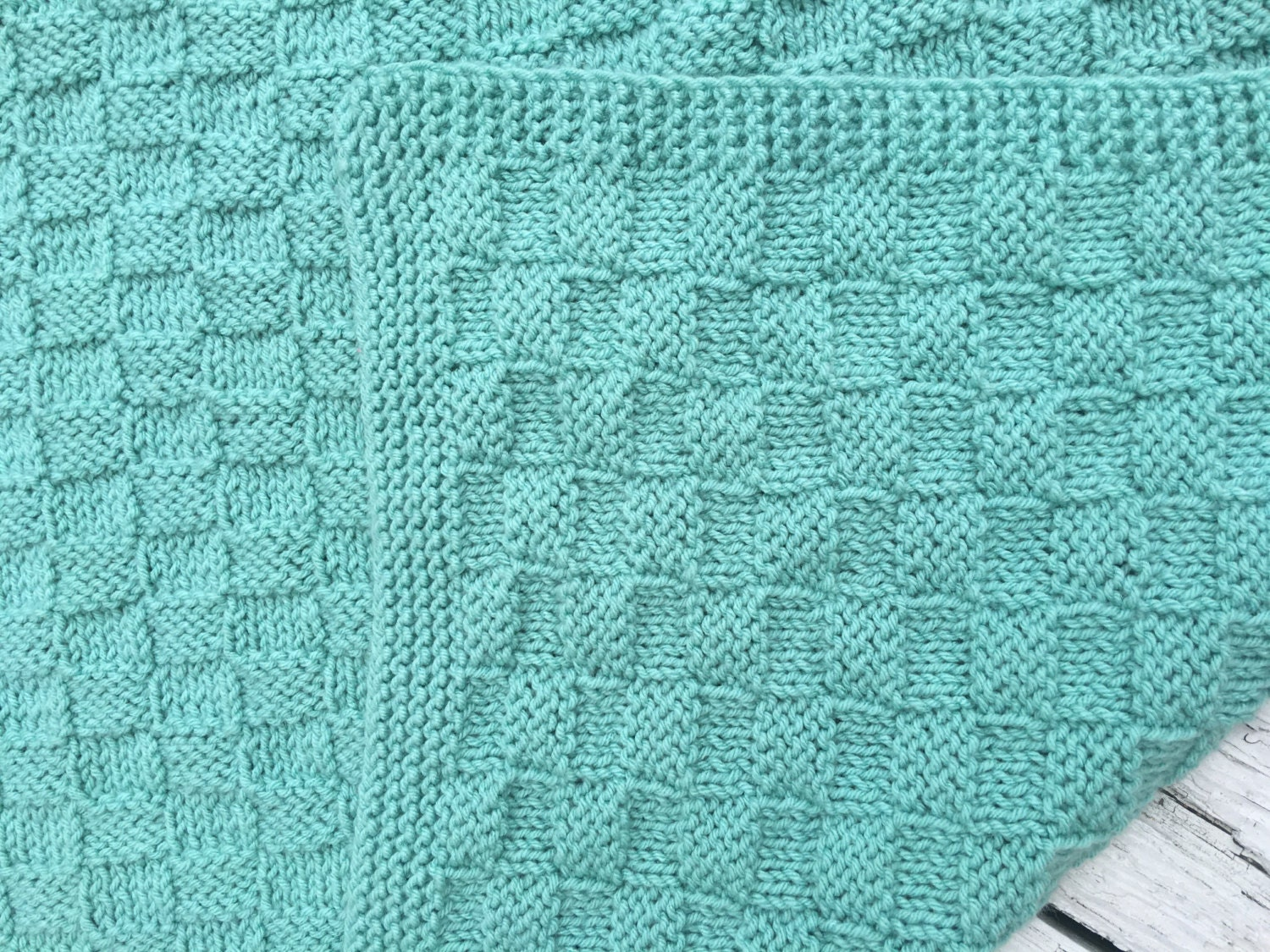 Handknit Throw Soft Sage Color Sage Childrens Blanket