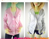 Sale 25% Off BJD MSD 1/4 Doll clothing - Cardigan - 12 Colors