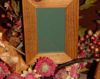 3.5X6 size solid rustic cedar wood frame picture photo craft oak finish country display