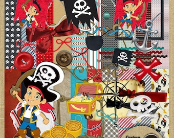Jake and Neverland Pirates Digital Scrapbook Kit