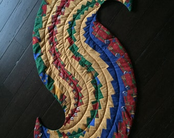 Spiral Table Runner - Christmas in Jewel Tones