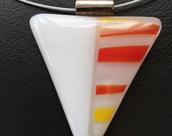 White pendant with orange accent