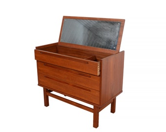 Nils Jonsson Teak Dressing Table Vanity  made by HJN Mobler Danish Modern 1960