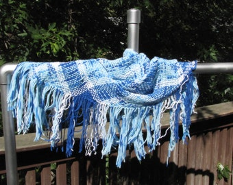 Shades of Blue Stash-buster Scarf