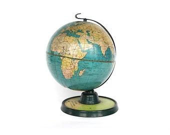 World Globe - Vintage Decor - Buffalo Evening News - Office Decor - Decorative Globe - Desk Globe - Cram's Globe - Unique Gift Idea