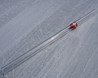 "Glass drinking straw ""Switzerland"", single, 10 x 200 mm, straight"