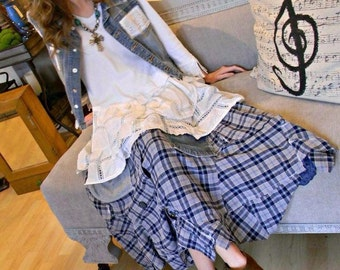 Bottoms up flannel skirt