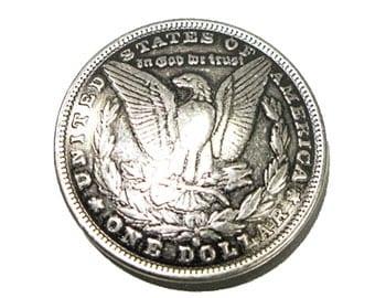 """Oregon Trail Half Dollar Concho Screwback 1-3/8"""" (35mm)"""