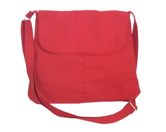 Medium Cross body Bag/ Messenger Bag/ Adjustable Strap/ Lilac, Red, Blue,Orange, Pink, Yellow, Green Aqua.