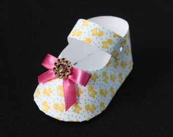 25 DIY  duckies baby shoe Shaped Party favor boxes  baby shower
