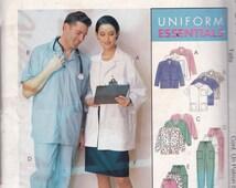 McCalls 377 Vintage Pattern  Scrubs - Nurses Dress - Doctor Scrubs - SIze Sm, Med, Large UNCUT