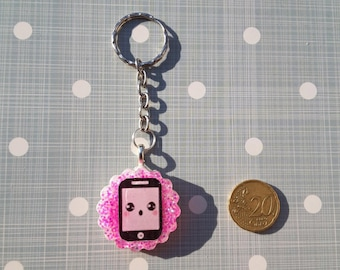 Kawaii Keychain with iPhone