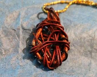 Tear Drop Web Necklace