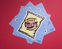 Stay Salty Die-Cut Vinyl Sticker