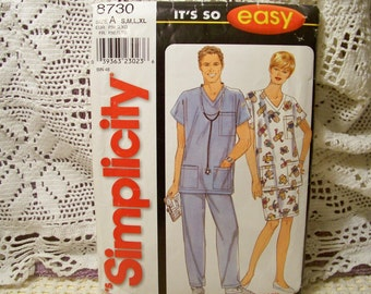 Simplicity Pattern - 8730 - Misses', Men's Or Teen's Top, Skirt And Pants - Size S,M,L,XL -