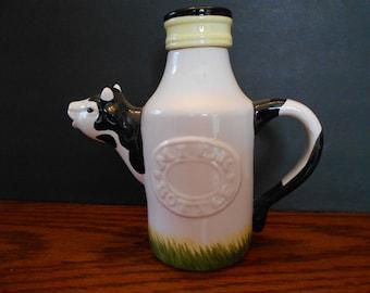 Porcelain Cow Teapot