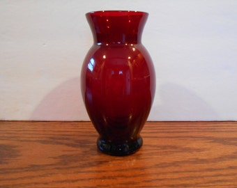 Anchor Hocking Ruby Red Vase