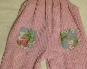 BABY LULU Pink Chenille Romper