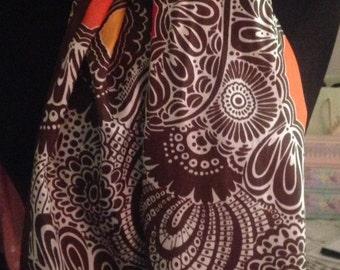 Adrienne Landau Silk Abstract Scarf