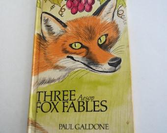 Vintage Book, Three Aesop Fox Fables