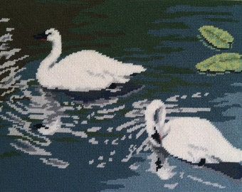 Trumpeter Swans Needlepoint Kit