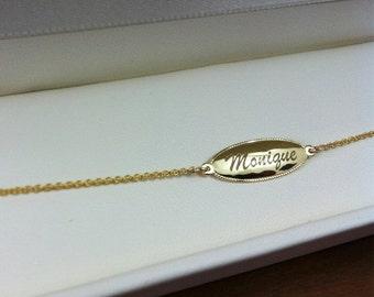 baby gold Bracelet, Baby Bracelet, Child Bracelet, gold Initial Bracelet, Baby girl Initial Bracelet, Baptism gift personalized