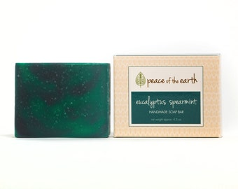 Eucalyptus Spearmint Handmade Soap Bar,  Eucalyptus Soap, Spearmint Soap, Natural Soap, Vegan Soap, Handmade Soap, Essential Oils
