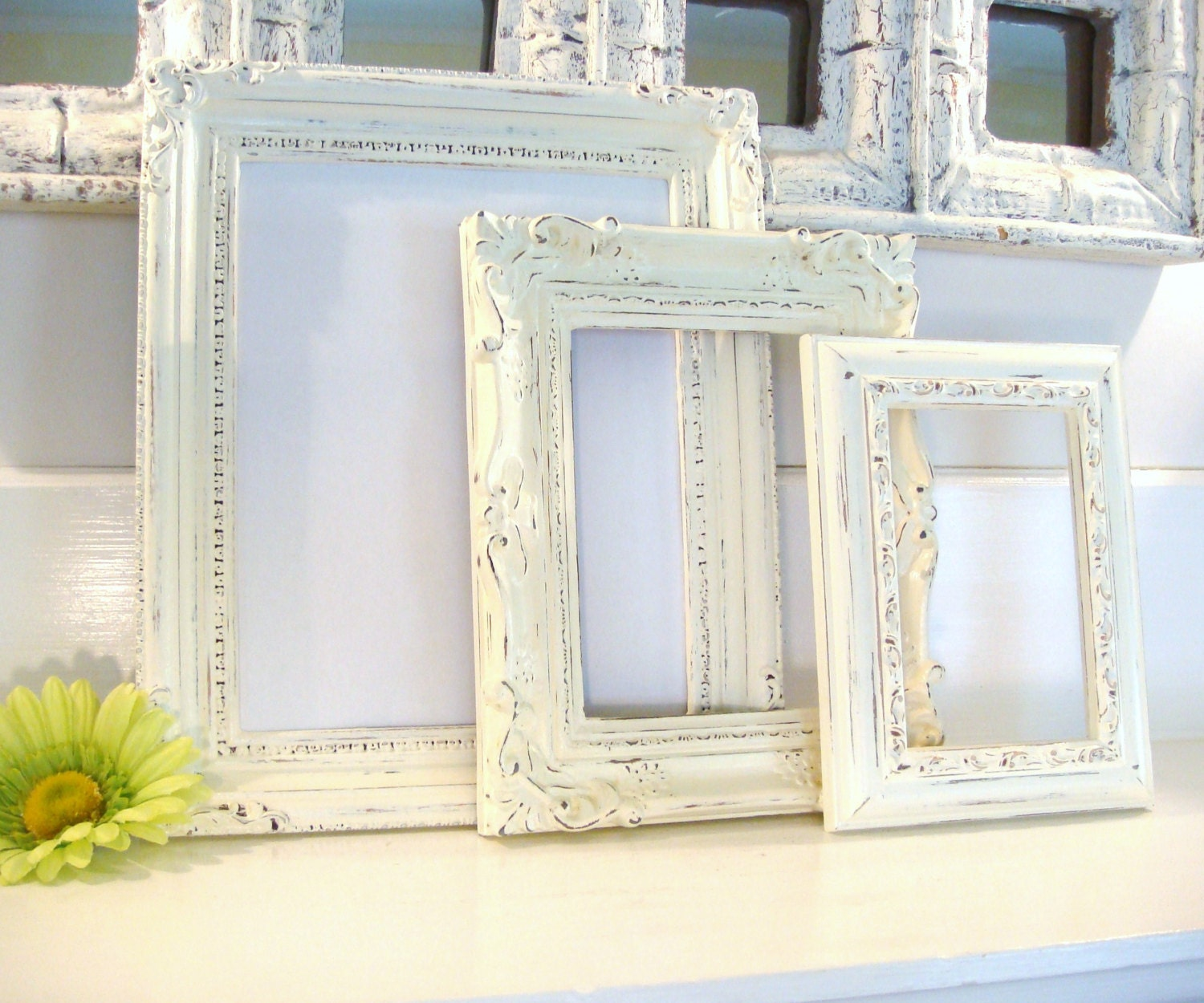 Distressed Frames White Frames Picture Frame Collection