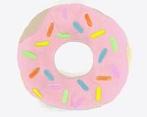 Giant Donut Pillow, Pink Icing Donut Pillow, Pink Donut, Stuffed Donut Pillow, Donut, Sprinkles, Donut Pillow, Doughnut, Food Pillow